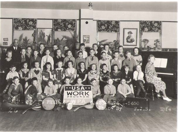 Lawrence with WPA Arts Program Children