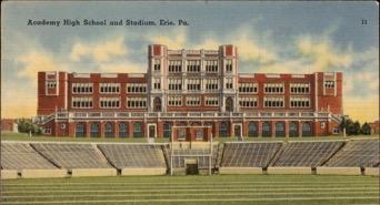 Academy High School Postcard