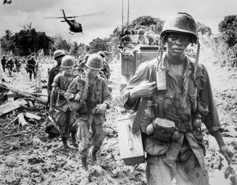 Vietnam War, Black Soldier Walking