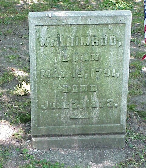 William Himrod Grave at Erie Cemetery